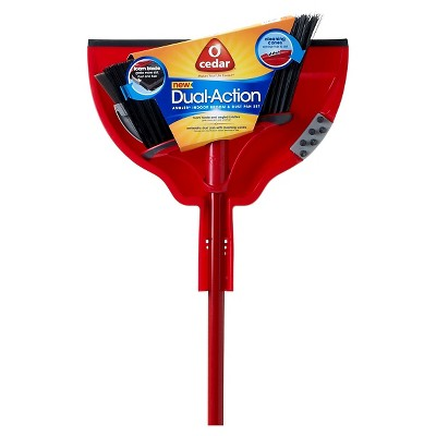 O-Cedar Dual Action Broom with Dust Pan