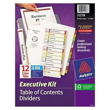 avery ready index template 31 tab - avery 12 tab target