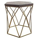 Chester End Table Gold Metal Hexagon - Threshold™