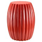 Scallop Drum Table - Red