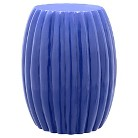 Scallop Drum Table - Blue