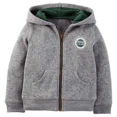 Just One You™ Made By Carter's® Toddler Boys' Hooded Sweatshirt - Gray 12 M