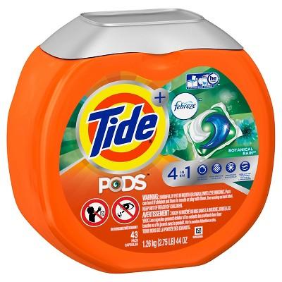 Tide Febreze 4 in 1 Botanical Rain Detergent Pods - 44 oz