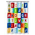 Kids A to Z Shower Curtain - Multi-colored