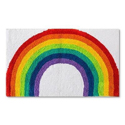 "Kids Rainbow Bath Rug (21x34"")"