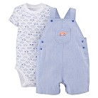 Just One You™Made by Carter's® Newborn Boys' Car Shortall and Bodysuit Set - Blue