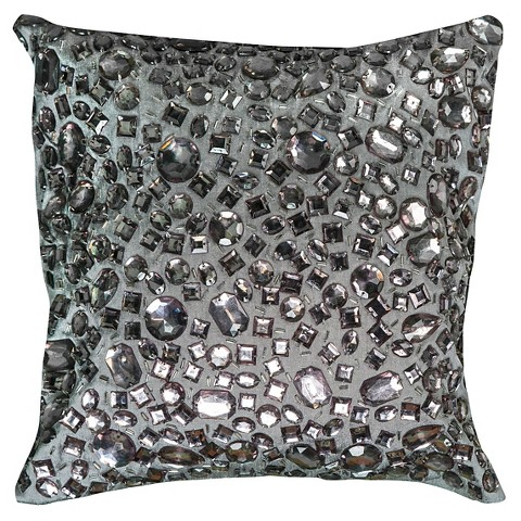 Decorative Pillows With Beads : Rizzy Home Crystal Beads Applique Toss Pillow - ... : Target