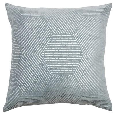 "Rizzy Home Cotton Decorative Pillow - 20""x20"" - Gray"
