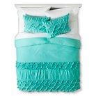 Boho Boutique® Texture Duvet Cover Set - Teal (Full/Queen)