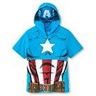 Captain America Toddler Boys Mask T-Shirt - Turquoise