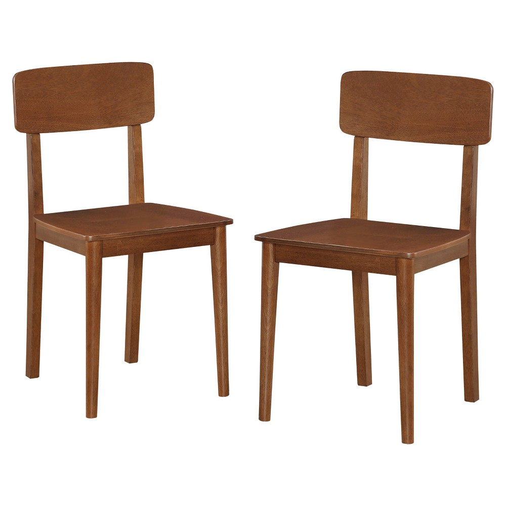 Dining Chair: Mid Century Modern Dining Chair - Brown (Set of 2)