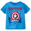 Captain America Toddler Boys' Space Dye Tee - Blue