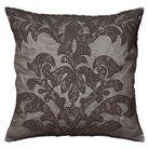 "Rizzy Home Overlay Applique on Textured Decorative Throw Pillow - Gray/Gunmetal (20""x20"")"