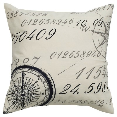 "Rizzy Home Decorative Pillow - 20""x20"" - Ivory"