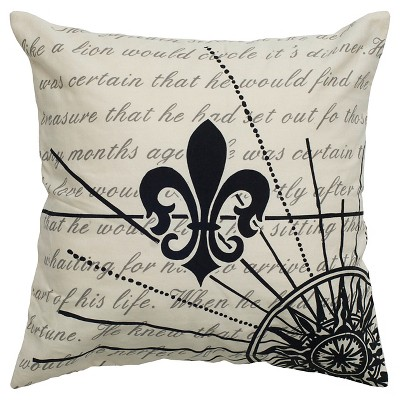 "Throw Pillow Black (20""x20"") - Rizzy Home"