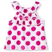 Gerber Graduates® Toddler Girls' Sleeveless Dot Ruffle Tank - White/Pink