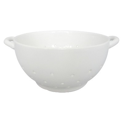 Threshold™ Ceramic Small Colander - White