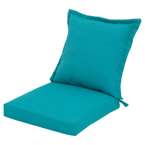 Threshold™ Outdoor Pillow Back Dining Cushion Tar