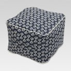 Threshold™ Outdoor Fabric Pouf - Natural