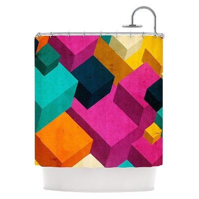 "KESS InHouse Danny Ivan ""Happy Cubes"" Shower Curtain"