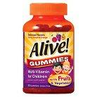 Alive! Children's Multi-Vitamin Fruit Flavor Gummies - 60 Count