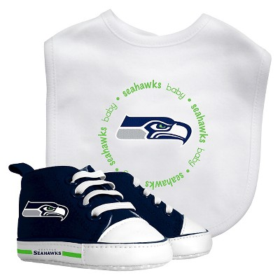 Gender Neutral Layette Sets Baby Fanatic Seattle Seahawks Team Color PREEMIE