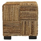 Baum Bros Abaca Cube with Feet - Natural