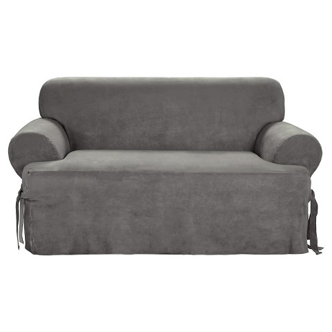 Sure Fit Loveseat Slipcover Grey Tar