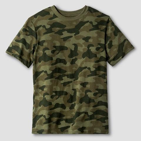boys 39 camo print classic t shirt cat jack green product details. Black Bedroom Furniture Sets. Home Design Ideas