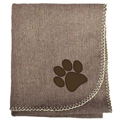 """Woolrich Herringbone Pet Blanket - Dark Brown (30""""x40"""")"""