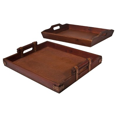 Set of 2 Vintage Style Trays