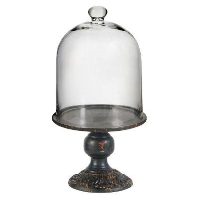 Dome Cloche on Pedestal Stand