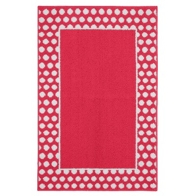 "Garland Polka Dot Frame Accent Rug - Pink/White (2'6""x3'10"")"