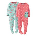 Just One You™ Made by Carter's&#174 Toddler Girls' 2-Pack Fleece Footed Owl Sleepers
