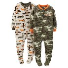 Just One You™ Made by Carter's® Toddler Boys' 2-Pack Fleece Plane Footed Sleeper Set - Camo 18M