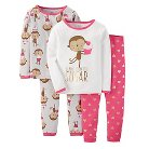Just One You™ Made by Carter's&#174 Toddler 4-Piece Mix & Match Monkey Pajama Set