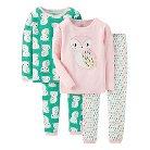 Just One You™ Made by Carter's&#174 Toddler Girls' 4-Piece Mix & Match Owl Pajama Set