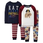 Just One You™ Made by Carter's&#174 Toddler Boys' 4-Piece Mix & Match Football Pajama Set