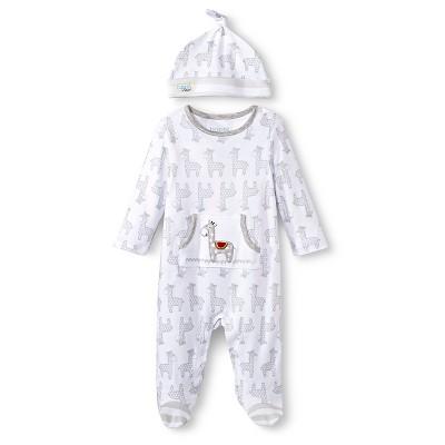 Happi by Dena™ Newborn Boys' Giraffe Coverall and Hat Set - White 0-3 M