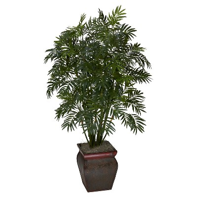 Nearly Natural Mini Bamboo Palm w/Decorative Vase