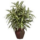 Nearly Natural Aglonema w/Decorative Vase Silk Plant