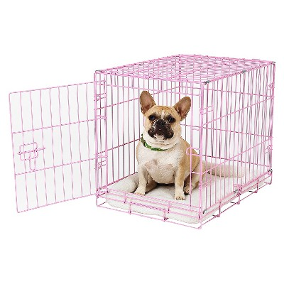 Carlson Compact and Secure Metal Pet Cage - Pink