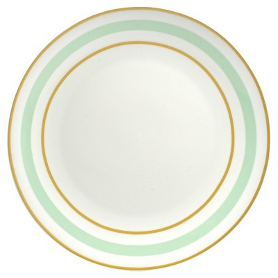 10 Strawberry Street Pirouette Dinner Plate Set of 4 - Mint