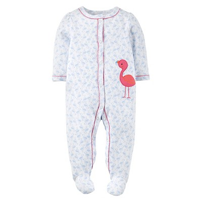 Just One You™Made by Carter's® Newborn Girls' Flamingo Sleep N' Play - White Sand 3 M