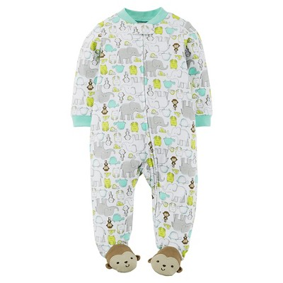 Just One You™Made by Carter's® Newborn Boys' Animals Sleep N' Play - Teal 3 M