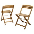 Christopher Knight Home Riviera Set of 2 Wood Patio Folding Chairs  - Natural stained
