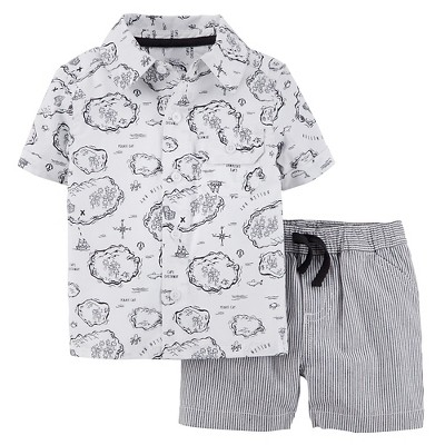 Just One You™Made by Carter's® Newborn Boys' 2 Piece Set - Jet Grey 6 M