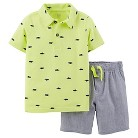 Just One You™Made by Carter's® Toddler Boys' 2 Piece Short Set - Lime Green