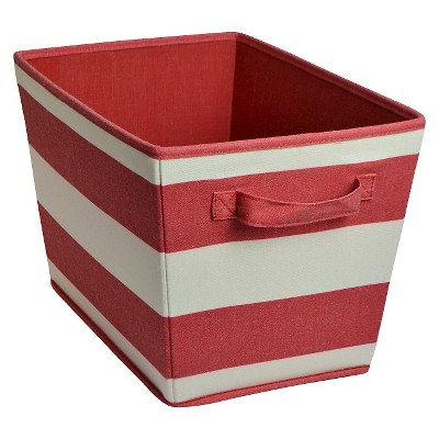 Striped Fabric Bin Large Red - Pillowfort™