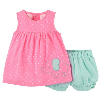 Just One You™Made by Carter's® Newborn Girls' 2 Piece Dot Elephant Set - Pink 9 M